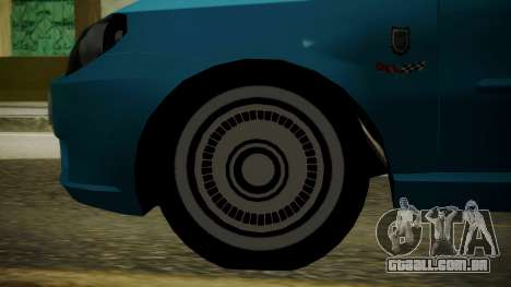 Fiat Albea Sole para GTA San Andreas traseira esquerda vista
