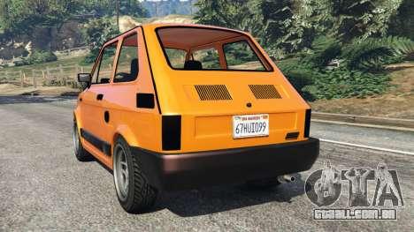 GTA 5 Fiat 126p v1.0 traseira vista lateral esquerda