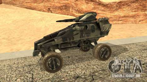 Ghost from Metal War para GTA San Andreas esquerda vista