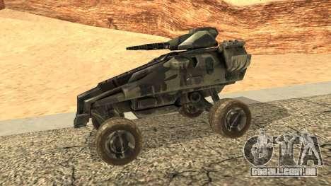 Ghost from Metal War para GTA San Andreas esquerda vista