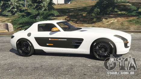 GTA 5 Mercedes-Benz SLS AMG Coupe vista lateral esquerda