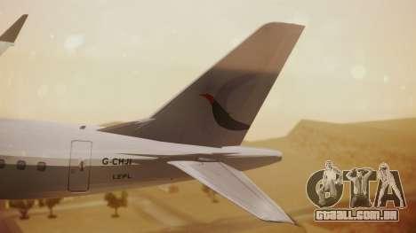 Embraer 170-100 Air Costa para GTA San Andreas traseira esquerda vista
