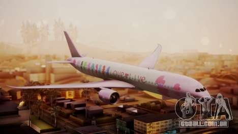 Boeing 787-9 LoveLive Livery para GTA San Andreas