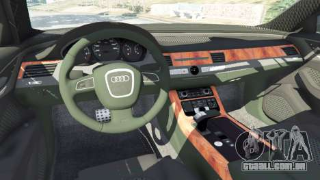 GTA 5 Audi A8 frente vista lateral direita