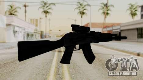 AK-103 with Rifle Dot Aimpoint M2 para GTA San Andreas segunda tela