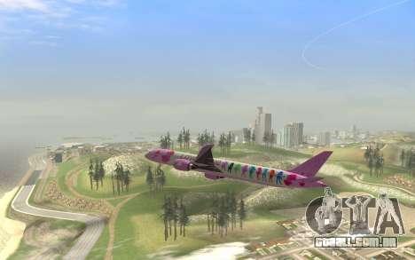 LoveLive Boeing 787-9 Livery para GTA San Andreas vista direita