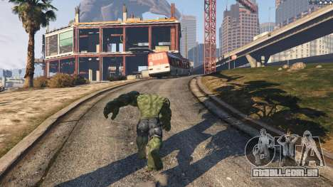 GTA 5 The Hulk quinta imagem de tela