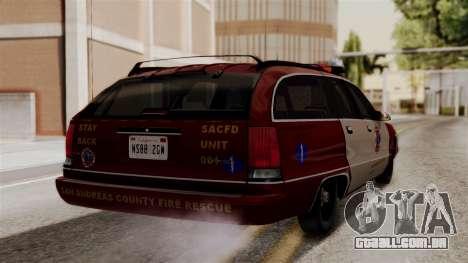 Chevy Caprice Station Wagon 1993-1996 SACFD para GTA San Andreas esquerda vista