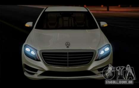Mercedes Benz S63 W222 Itens De Qualidade para vista lateral GTA San Andreas