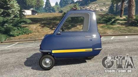 GTA 5 Peel P50 Police traseira vista lateral esquerda