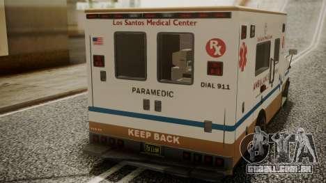 GTA 5 Brute Ambulance para GTA San Andreas vista traseira