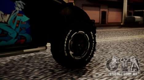 Volkswagen Beetle Vocho-Buggy para GTA San Andreas traseira esquerda vista