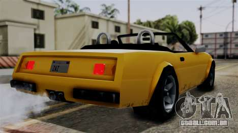 Stinger from Vice City Stories para GTA San Andreas esquerda vista