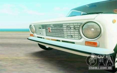 VAZ 2101 Estoque para GTA San Andreas vista interior