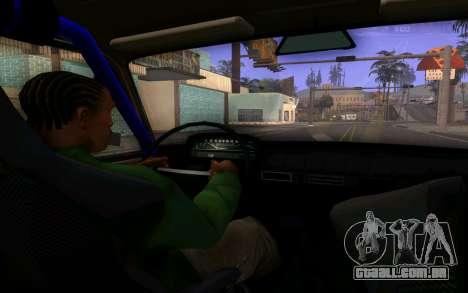 VAZ 2101 Carro para GTA San Andreas vista interior