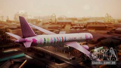 Boeing 787-9 LoveLive Livery para GTA San Andreas esquerda vista