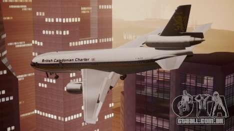 DC-10-30 British Caledonian Charter para GTA San Andreas esquerda vista