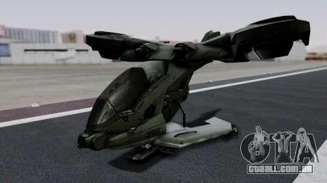 Hornet Halo 3 para GTA San Andreas esquerda vista