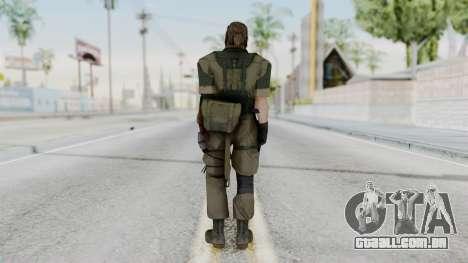 MGSV Phantom Pain Snake (Olive Drab Version) para GTA San Andreas terceira tela