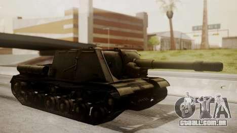 ISU-152 from World of Tanks para GTA San Andreas esquerda vista