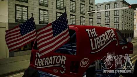 GTA 5 Vapid The Liberator IVF para GTA San Andreas vista traseira