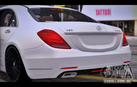 Mercedes Benz S63 W222 Itens De Qualidade para GTA San Andreas vista direita