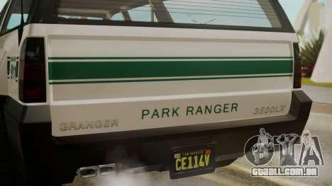 GTA 5 Declasse Granger Park Ranger para GTA San Andreas vista traseira