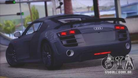 Audi R8 GT 2012 Sport Tuning V 1.0 para GTA San Andreas traseira esquerda vista