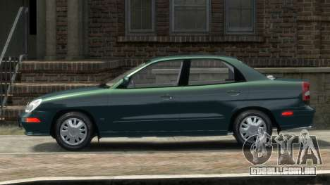 Daewoo Nubira II Sedan SX USA 2000 para GTA 4 esquerda vista