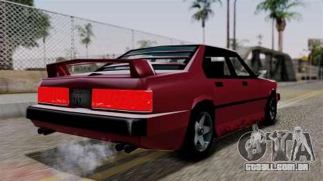 Sentinel XL from Vice City Stories para GTA San Andreas esquerda vista