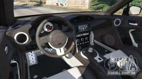 GTA 5 Toyota GT-86 v1.4 traseira direita vista lateral