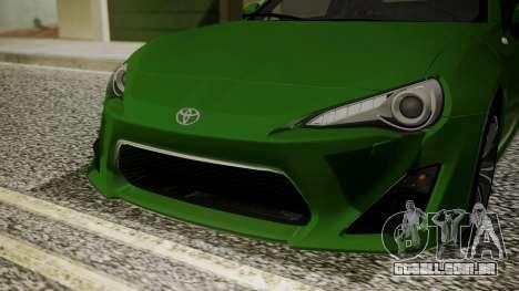 Toyota GT86 2012 para GTA San Andreas vista interior