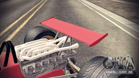 Ferrari 312 F1 para GTA San Andreas vista traseira