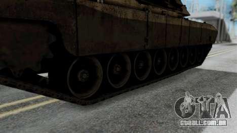 M1A2 Abrams para GTA San Andreas traseira esquerda vista