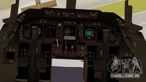 Boeing 747-8I Philippine Airlines para GTA San Andreas vista interior