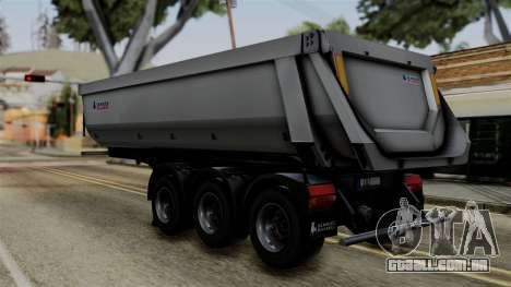 Schmied Bigcargo Solid Trailer Stock para GTA San Andreas esquerda vista