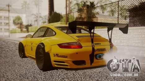 Porsche 997 Liberty Walk para GTA San Andreas esquerda vista