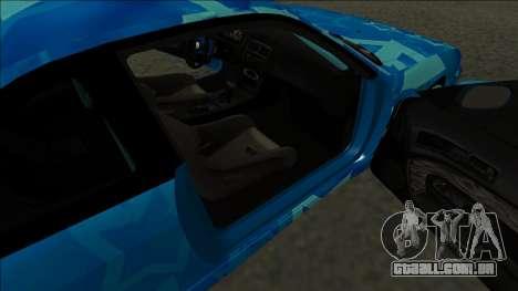 Nissan Silvia S14 Drift Blue Star para GTA San Andreas traseira esquerda vista