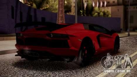 Lamborghini Aventador MV.1 para GTA San Andreas esquerda vista