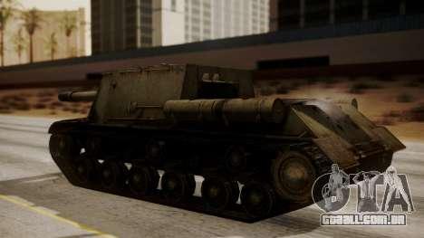 ISU-152 from World of Tanks para GTA San Andreas traseira esquerda vista
