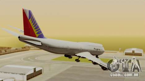 Boeing 747-8I Philippine Airlines para GTA San Andreas esquerda vista