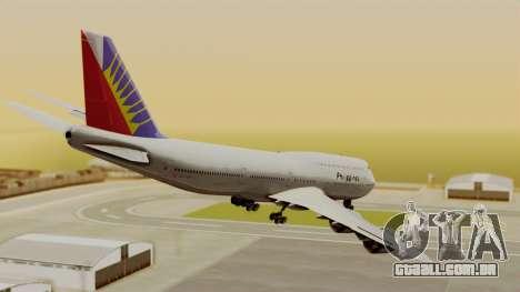 Boeing 747-8I Philippine Airlines para GTA San Andreas esquerda vista