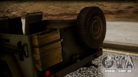 UAZ MGS5 TPP para GTA San Andreas vista traseira