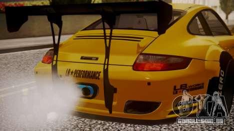 Porsche 997 Liberty Walk para GTA San Andreas vista traseira