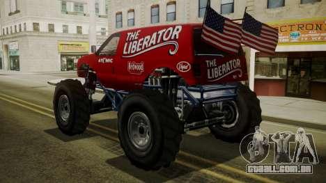 GTA 5 Vapid The Liberator IVF para GTA San Andreas esquerda vista