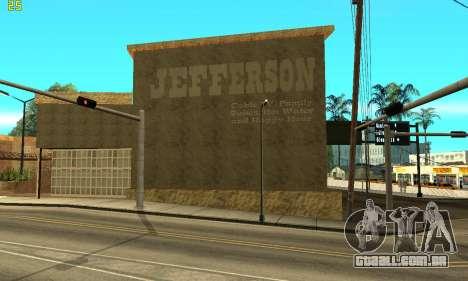 New Jefferson para GTA San Andreas segunda tela