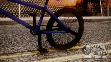 Nueva BMX para GTA San Andreas vista direita