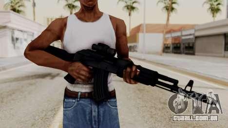 AK-103 with Rifle Dot Aimpoint M2 para GTA San Andreas terceira tela