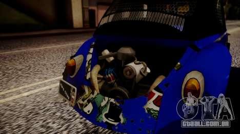 Volkswagen Beetle Vocho-Buggy para GTA San Andreas vista traseira