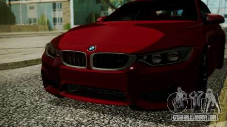 BMW M4 Coupe 2015 Walnut Wood para GTA San Andreas vista interior